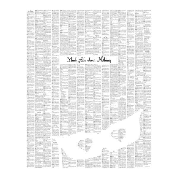 """Plakat """"Wiele hałasu o nic"""", 40x50 cm"""