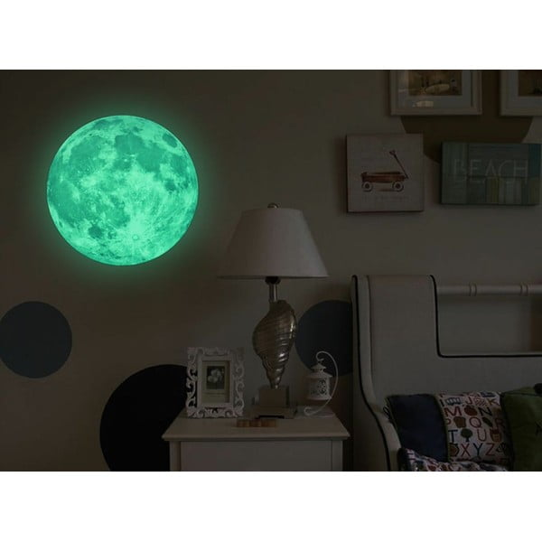 Naklejka świecąca w ciemności Ambiance Real Moon