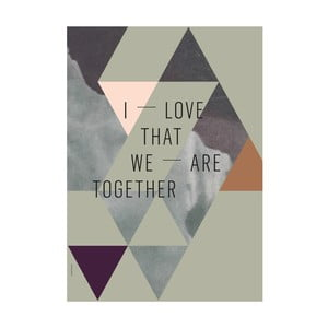 Plakat autorski We Are Together, A3