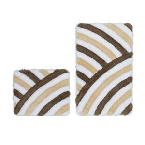 Zestaw 2 dywaników łazienkowych Lobby Taupe