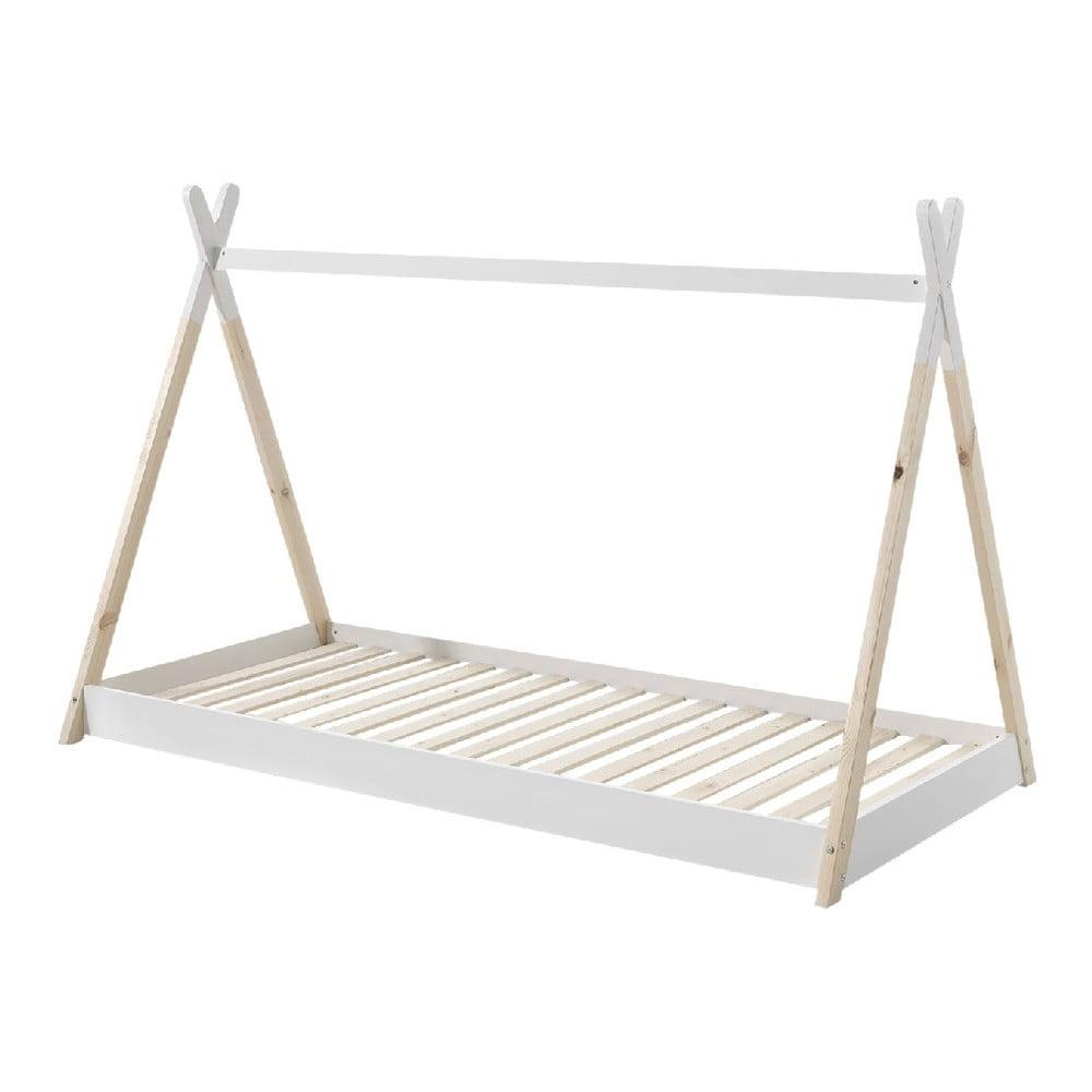 Białe łóżko dziecięce Vipack Tipi, 90x200 cm