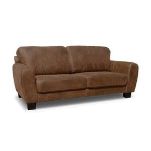 Sofa trzyosobowa Jethro, kakaowy brąz
