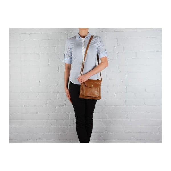 Skórzana torba Shirley Dark Tan