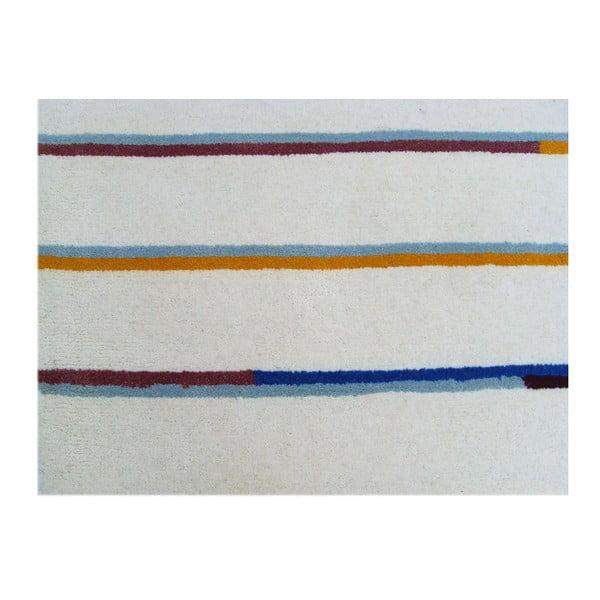 Beżowy dywan tuftowany ręcznie Bakero Stripe, 122x183 cm