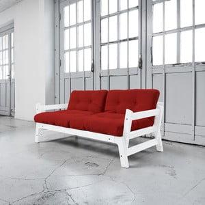Sofa rozkładana Karup Step White/Red