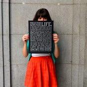Plakat Manifesto Black, 30x41 cm