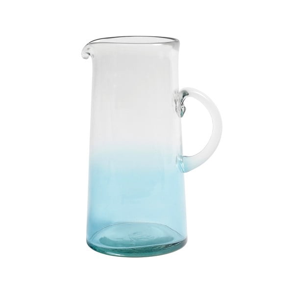 Niebieski dzban szklany Nordal Mexican Bubble