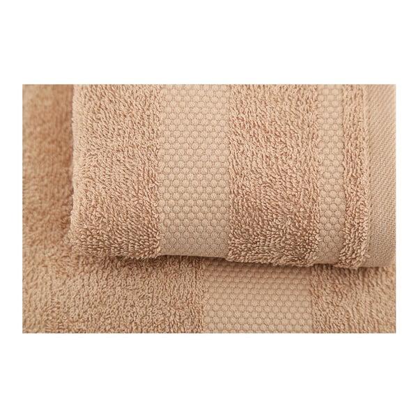 Zestaw 2 brązowych ręczników Clio