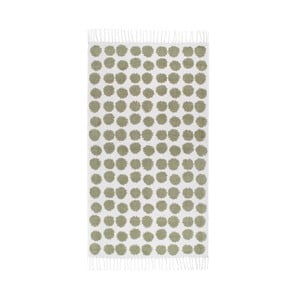 Zielono-biały dywan Roomblush Fluff,80x140cm