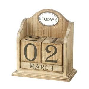 Drewniany kalendarz stołowy Perpetual
