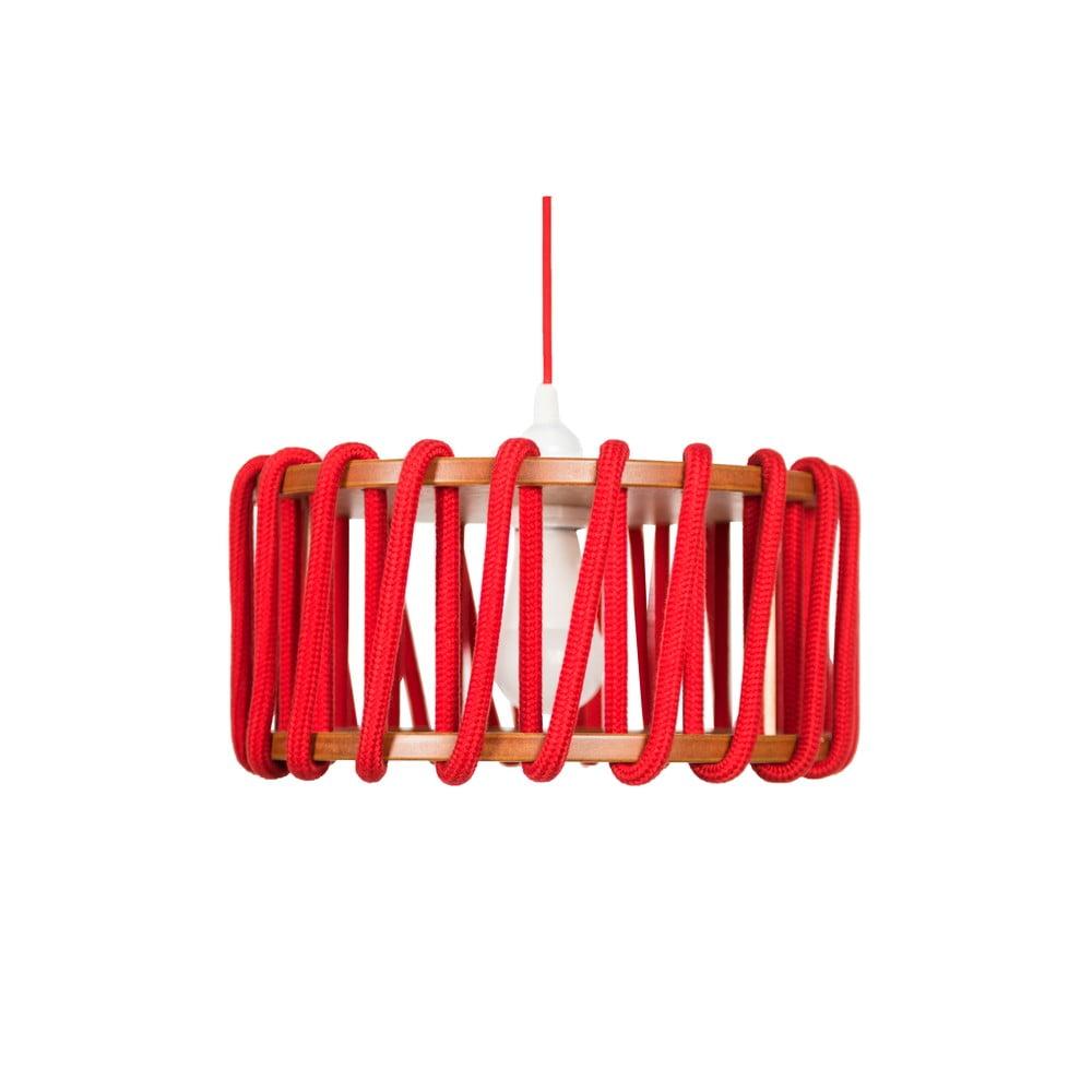 Czerwona lampa wisząca EMKO Macaron, ø 30 cm