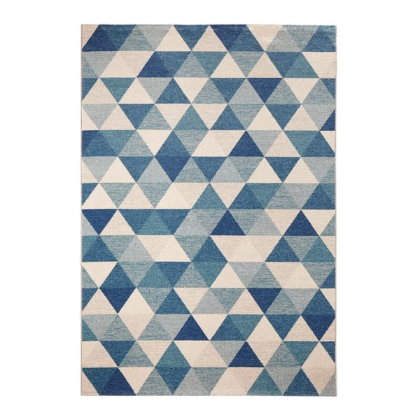 Dywan Schöngeist & Petersen Diamond Triangle Blue, 80 x 150 cm