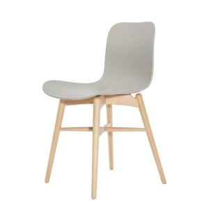 Szare krzesło bukowe do jadalni NORR11 Langue Natural