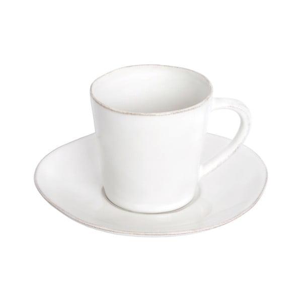 Biała ceramiczna filiżanka ze spodkiem Ego Dekor Nova,190ml