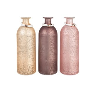 Komplet 2 wazonów Bottle Pink