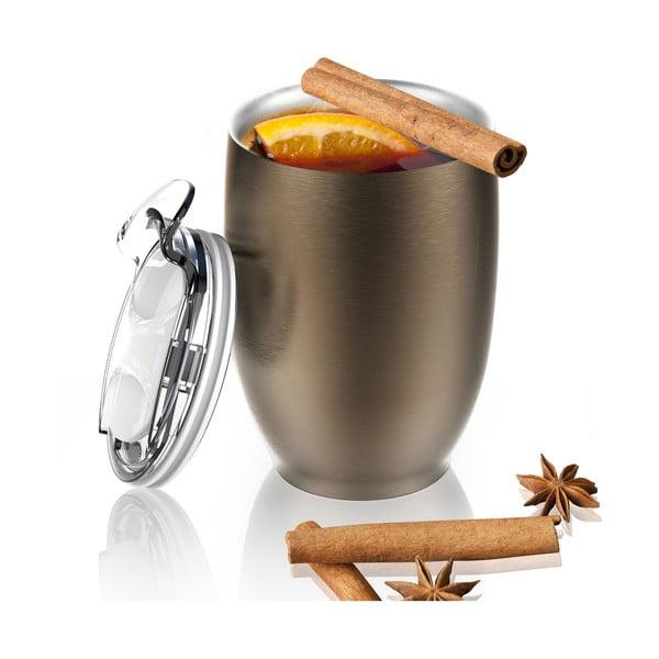 Nierdzewny kubek termiczny Imperial Beverage, brązowy