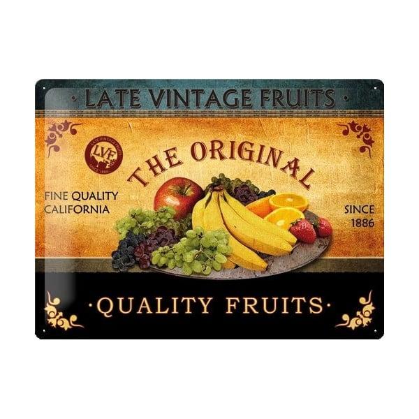 Tabliczka blaszana Fruit, 30x40 cm