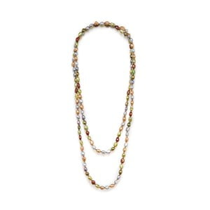 Naszyjnik z pereł słodkowodnych Baroque 120 cm, kolorowy
