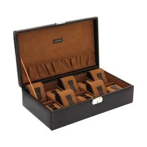 Brązowe pudełko na 10 zegarków Friedrich Lederwaren Bond