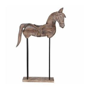 Dekoracyjny koń z drewna mangowca Mica Sculpture, 36x60cm