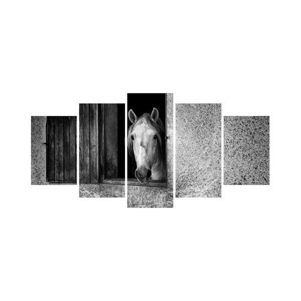 Wieloczęściowy obraz Black&White no. 19, 100x50 cm