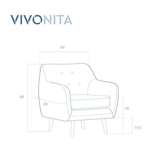 Jasnoszary fotel Vivonita Lila
