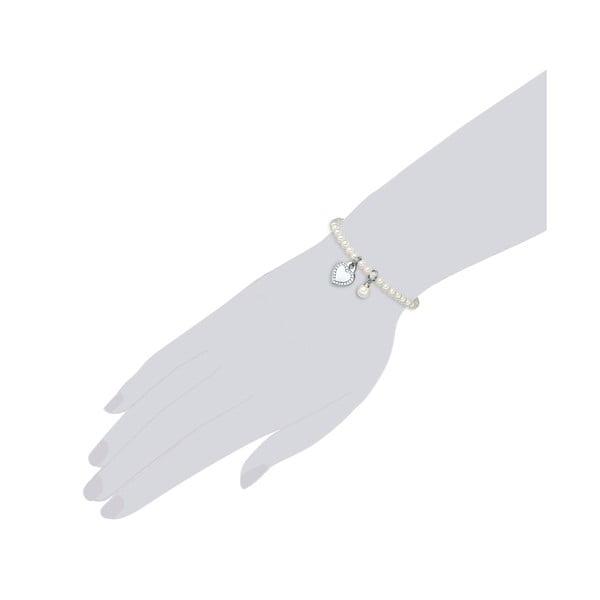 Bransoletka z białych pereł ⌀ 8 mm Perldesse Poa, długość 17 cm