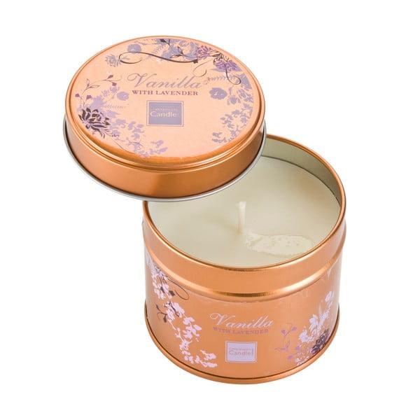 Świeczka zapachowa w puszcze o zapachu lawendy i wanilii Copenhagen Candles, czas palenia 32 godz.