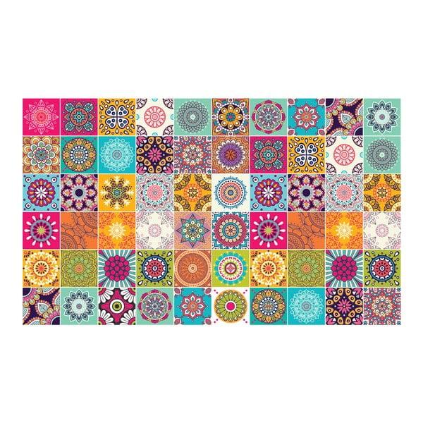Zestaw 60 samoprzylepnych naklejek dziecięcych Ambiance Tiles Vintage, 10x10 cm