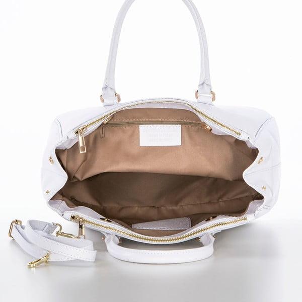 Skórzana torebka Ano White