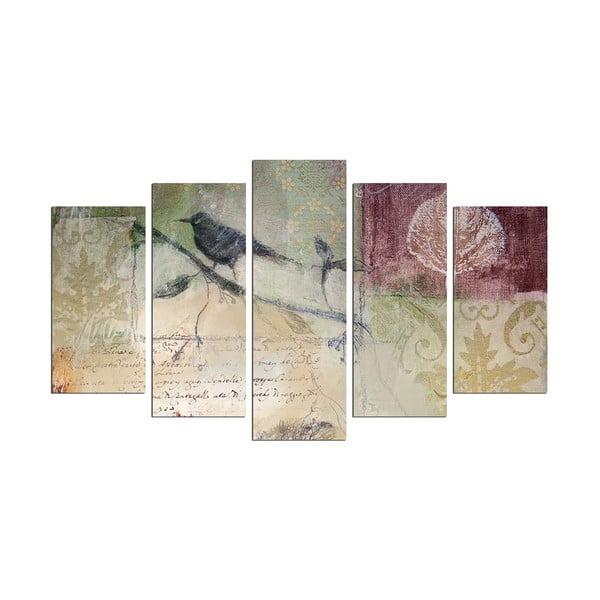 Obraz wieloczęściowy Birdie On The Branch, 110x60 cm