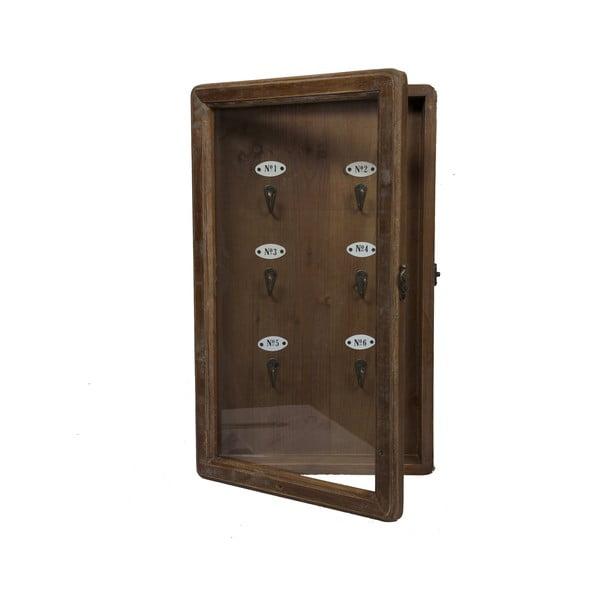 Drewniana skrzynka na klucze Numbers