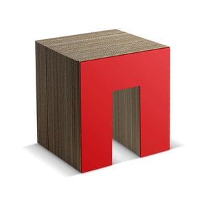 Kartonowy taboret Panca Red