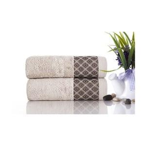 Zestaw 2 ręczników Bamboo Polo Light Beige, 50x90 cm