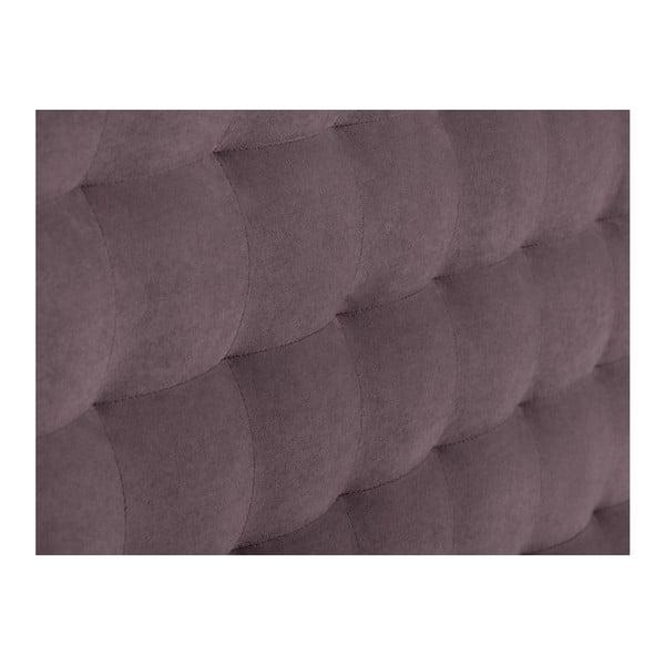 Fioletowy zagłówek łóżka Windsor & Co Sofas Nova, 200x120 cm