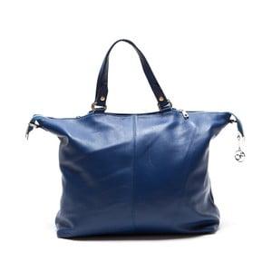 Skórzana torebka Fiora, niebieska