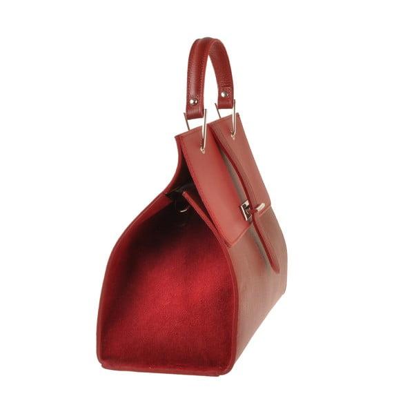 Skórzana torebka Pau, czerwona