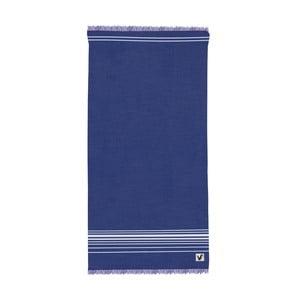 Niebieski ręcznik Origama Flat Seat, 100x200cm