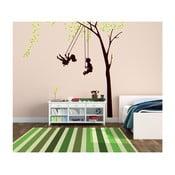 Naklejka dekoracyjna Dzieci na huśtawce, 170x170 cm