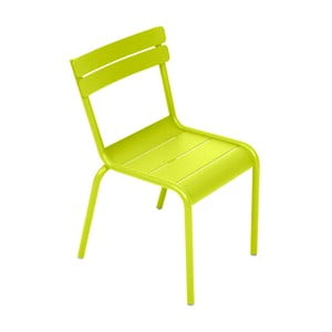 Limonkowe krzesło dziecięce Fermob Luxembourg