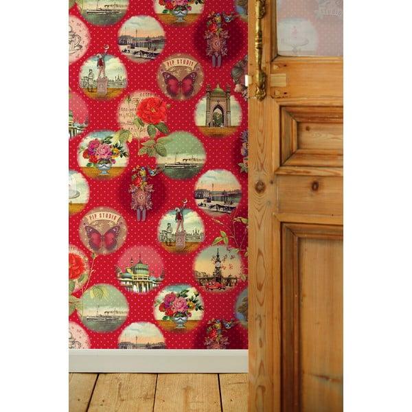 Tapeta Pip Studio Remember Brighton, 186x280 cm, czerwona