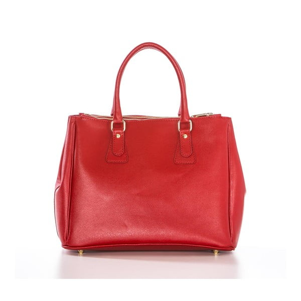 Skórzana torebka Ano Red
