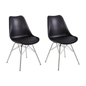 Zestaw 2 czarnych krzeseł Støraa Jenny