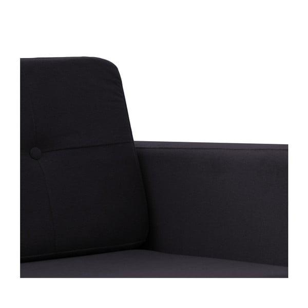 Fotel VIVONITA Sondero Dark Grey, naturalne nogi