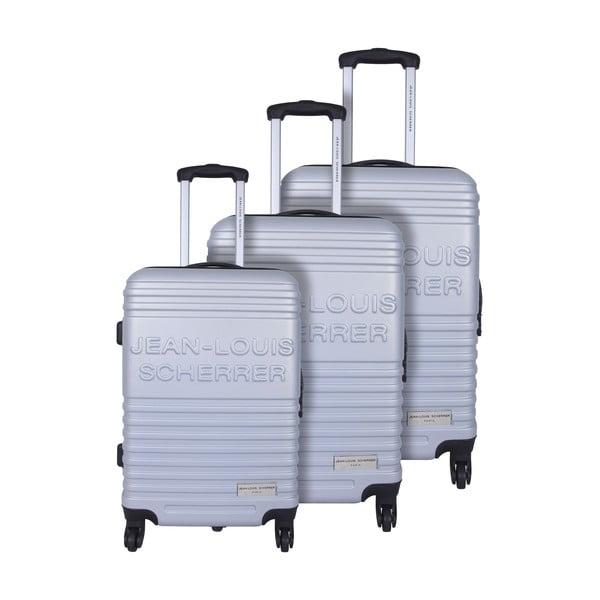 Zestaw 3 walizek Jean Louis Scherrer Trolley Silver