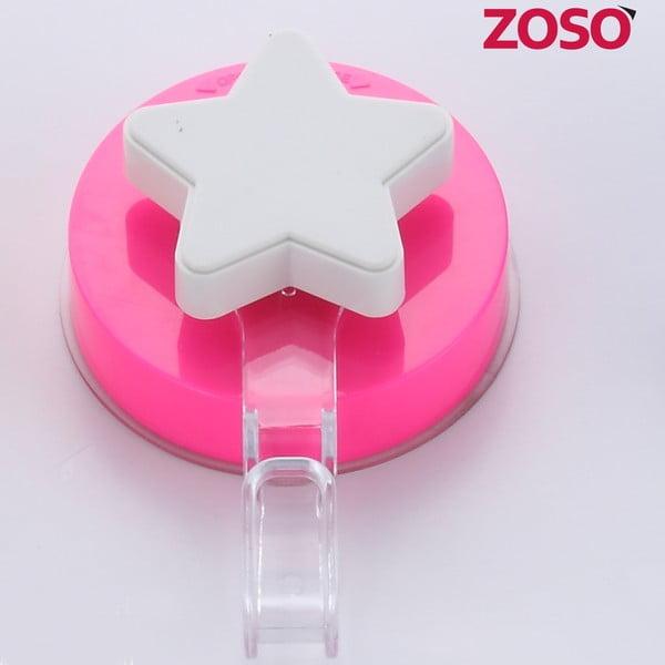 Różowy haczyk z przyssawką ZOSO Star