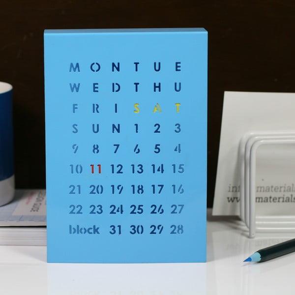 Magnetyczny kalendarz Perpetual Calendar, niebieski