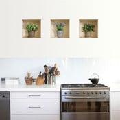 Naklejka 3D na ścianę Pots de fleurs