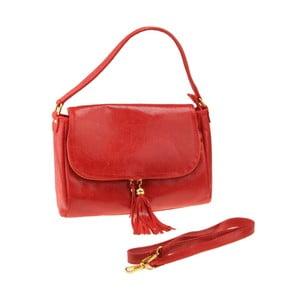 Skórzana torebka Diadema, czerwona