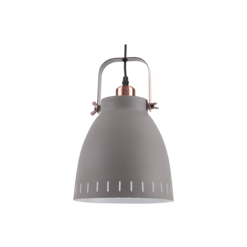 Szara lampa wisząca Leitmotiv Mingle